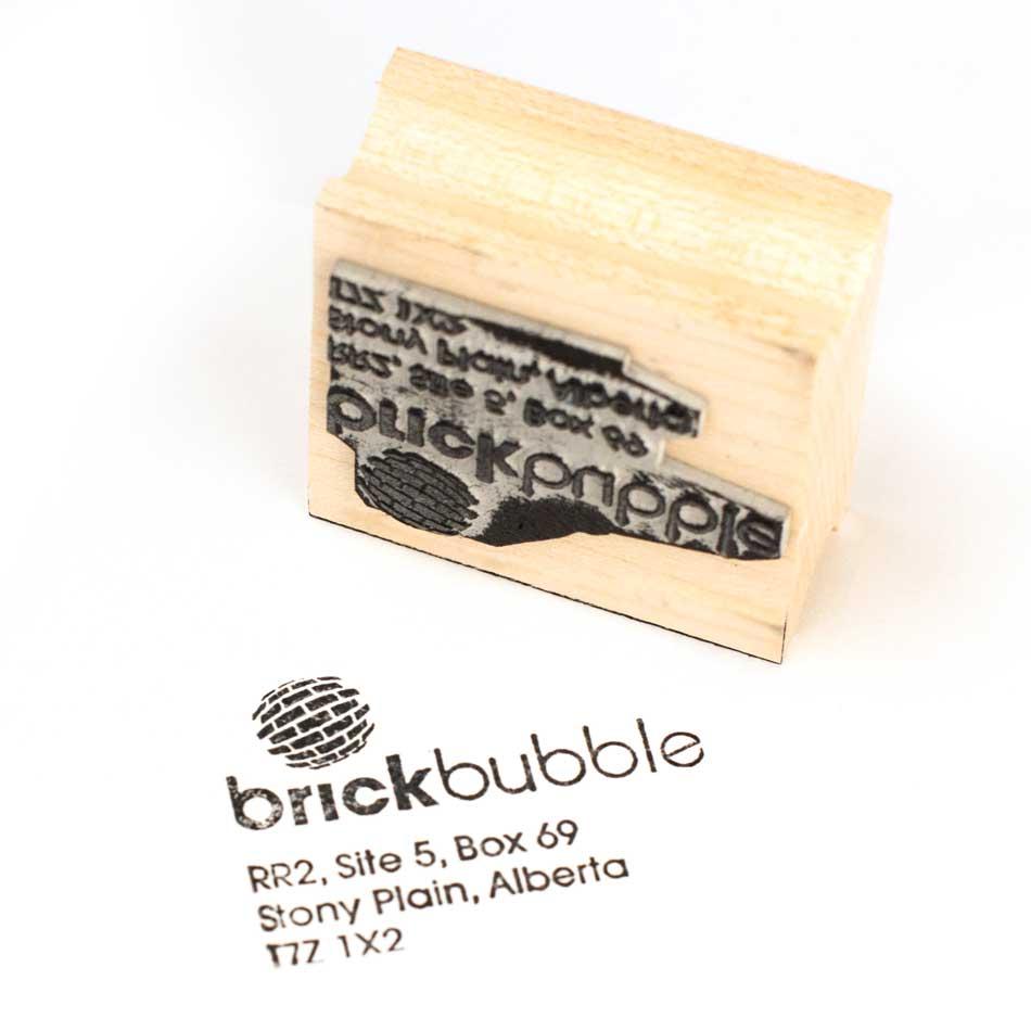 Custom Rubber Stamps Brickbubble