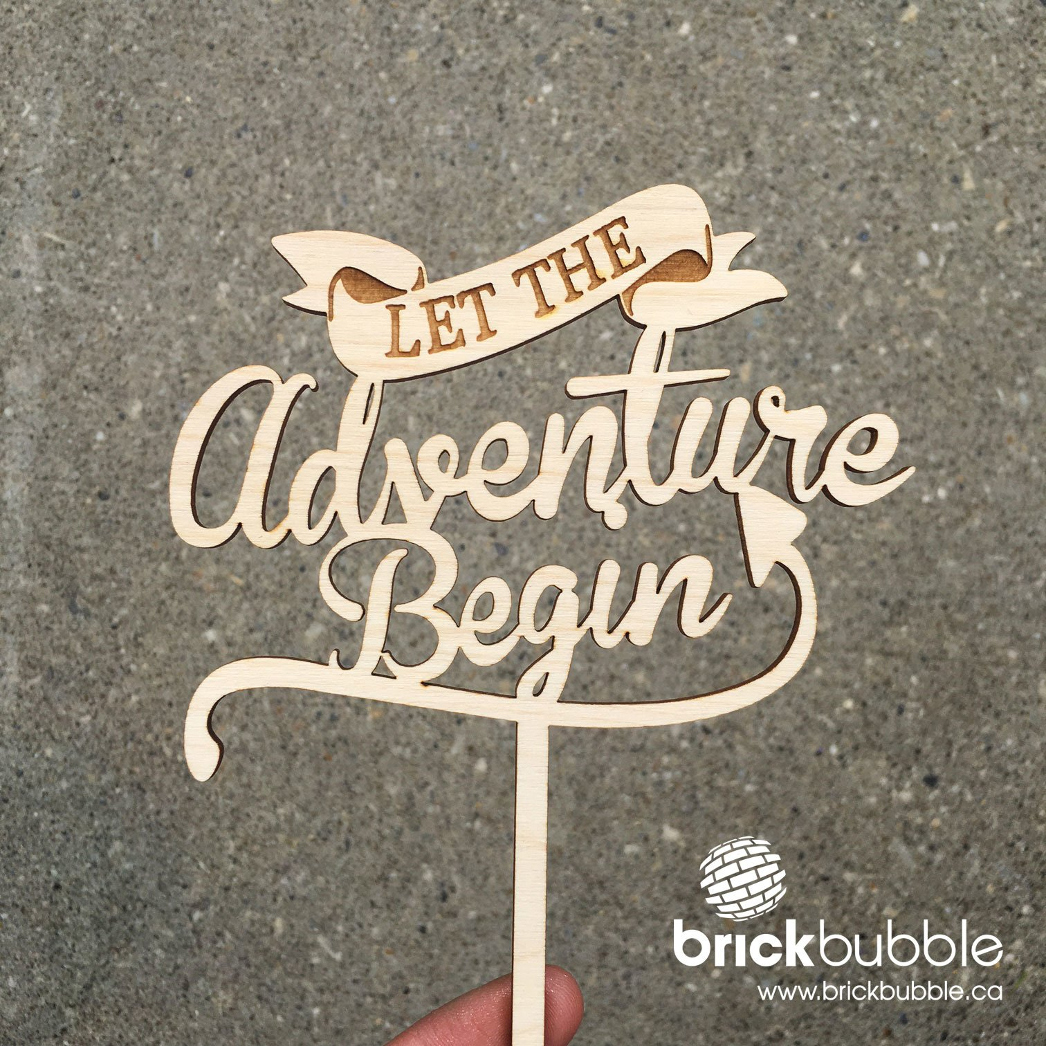 Adventure Cake Topper Brickbubble