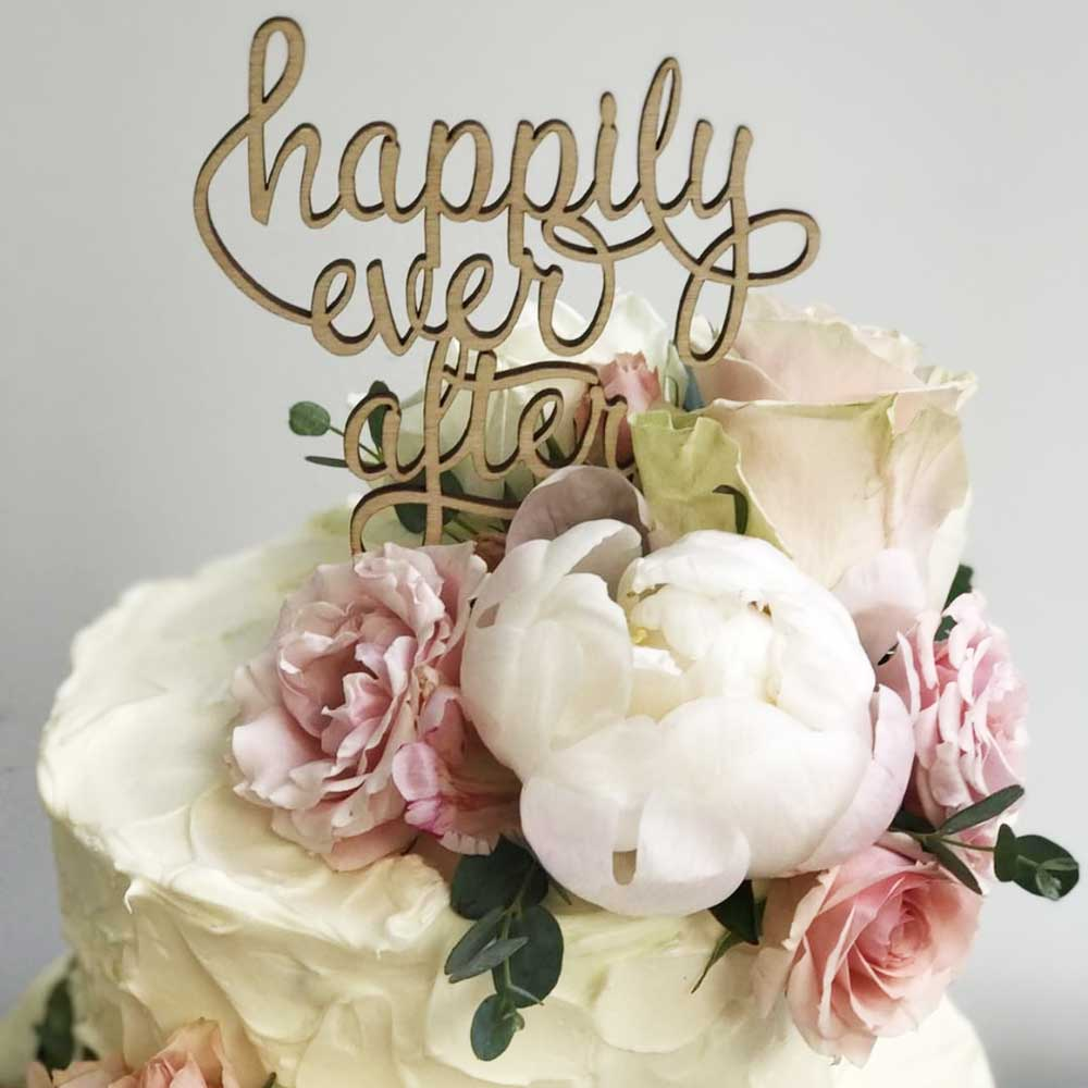 Happily Ever After Cake Topper Brickbubble